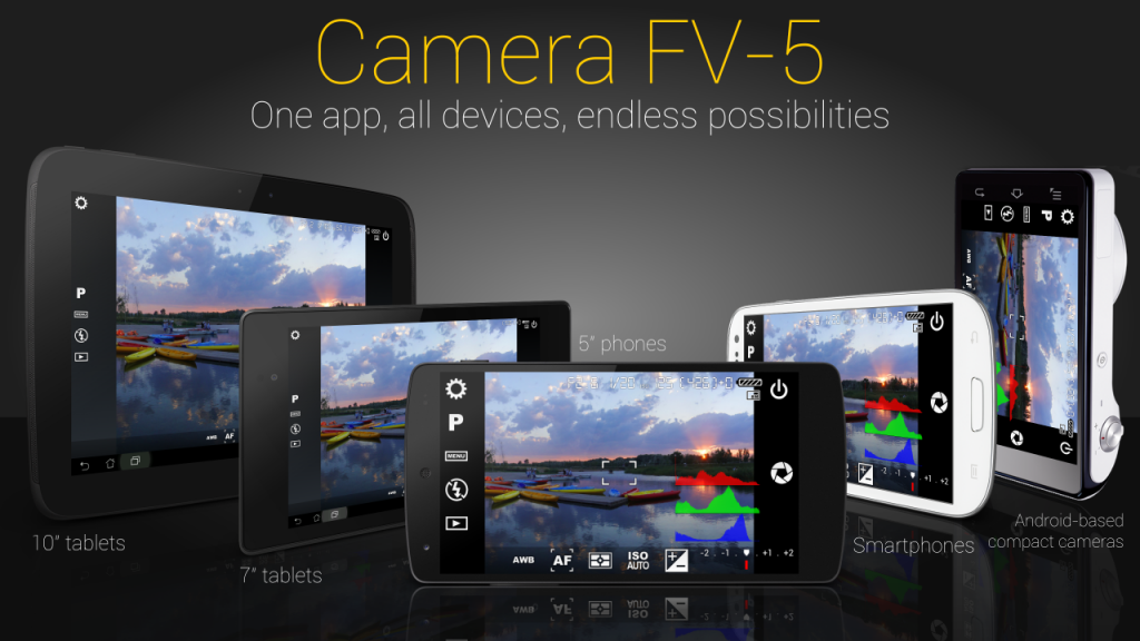 Camera FV-5 the application to make your smartphone like DSLR