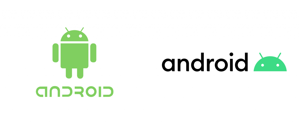 Old and The New Logo of Android